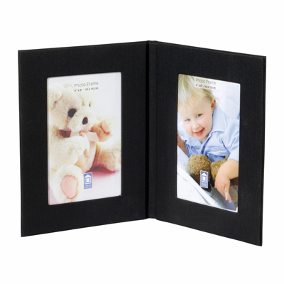 Fabric Twin Photo Frame
