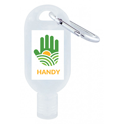 30mL Hand Sanitiser with Carabiner - 75% ethyl-alcohol