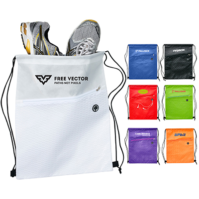 Wave Strider Drawstring Bag