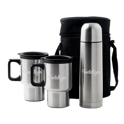 Car Mug/Vacuum Flask Set
