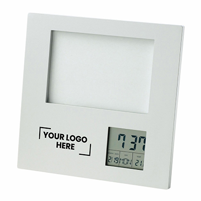Photo Frame with Clock| Date| Temperature