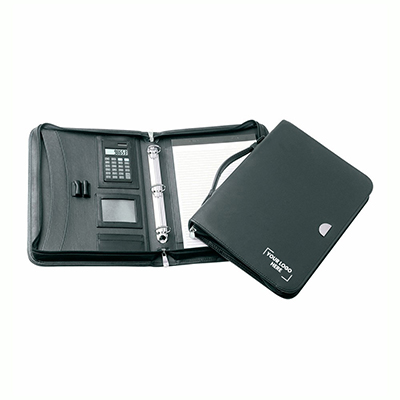 Lucerne 3 Ring Zippered Compendium with Handle