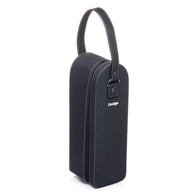 Sueded Leatherette Single Bottle Wine Case