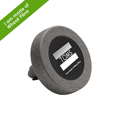 Kozo Universal Magnetic Car Vent Mount - ABS - Silver - Round