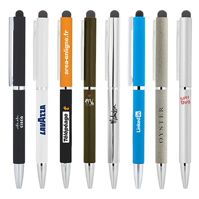 BND71XLS CLAP STYLUS TWIST METAL BALL PEN