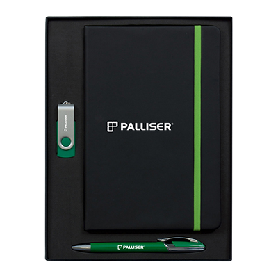Edge A5 Journal Set with Havana Pen & 2GB Swivel USB