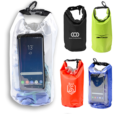 2.5 Litre Outdoor Dry Bag with Phone WIndow