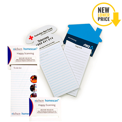 Standard Magnet - 95mm x 70mm Pad - 75mm x 140mm Telephone Shaped To Do Lists