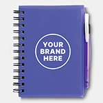 Bic Plastic Notebook (Small)-Logo