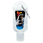 60mL Hand Sanitiser with Carabiner-Logo