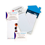 Standard Magnet - 95mm x 70mm Pad - 75mm x 140mm Telephone Shaped To Do Lists-Logo