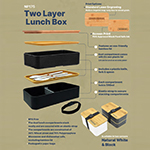 Two Layer Lunch Box-Logo